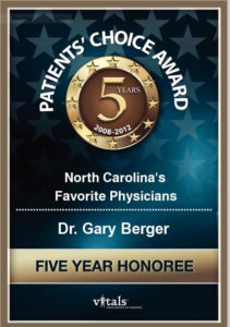 Dr. Gary S. Berger Patients Choice Award Medical Day Spa of Chapel Hill NC