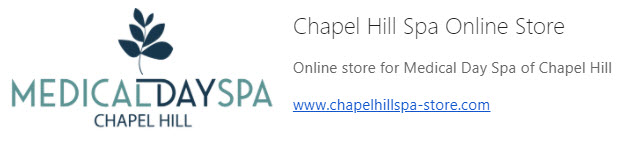 New Online Store Medical Day Spa Chapel Hill