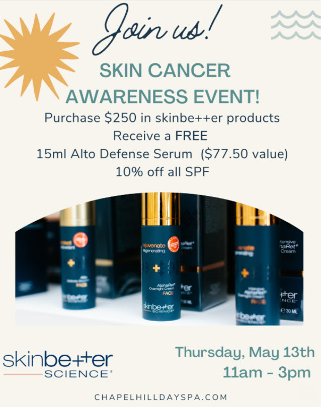 Skin Cancer Awareness Event at Medical Day Spa of Chapel Hill NC